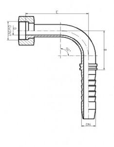 ORFS-etansare dreapta-cot-90-grade